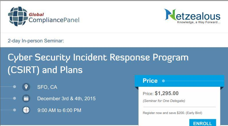 San Francisco Cyber Security Incident Response Program