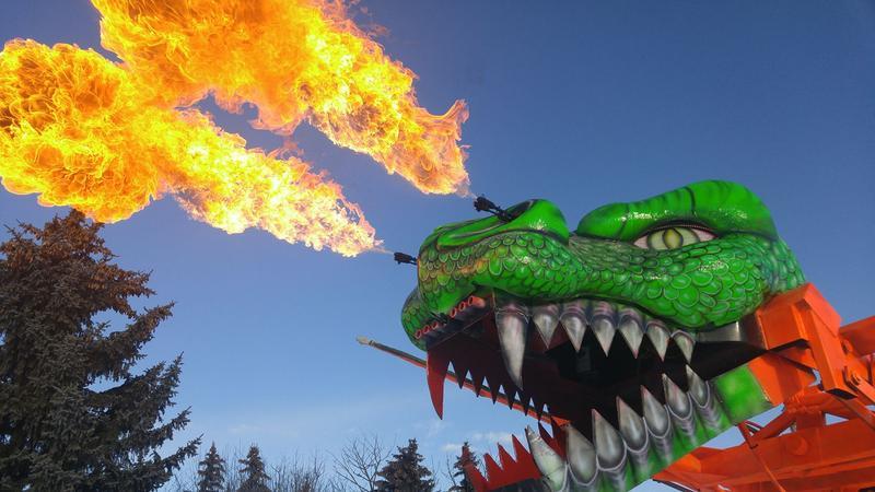 "Monster Trucks Victorville Night of Thrills - ""Robo Dragon"""