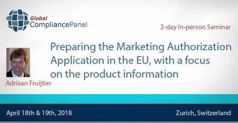 How to Prepare the Marketing Authorization in Europe 2018