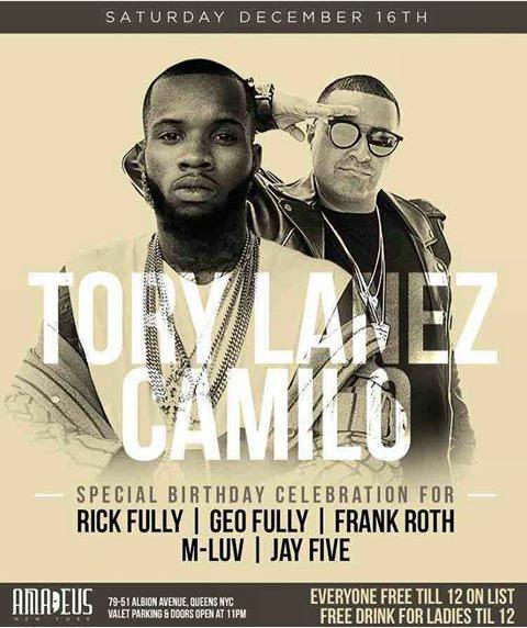 Tory Lanez Live With DJ Camilo at Amadeus Nightclub