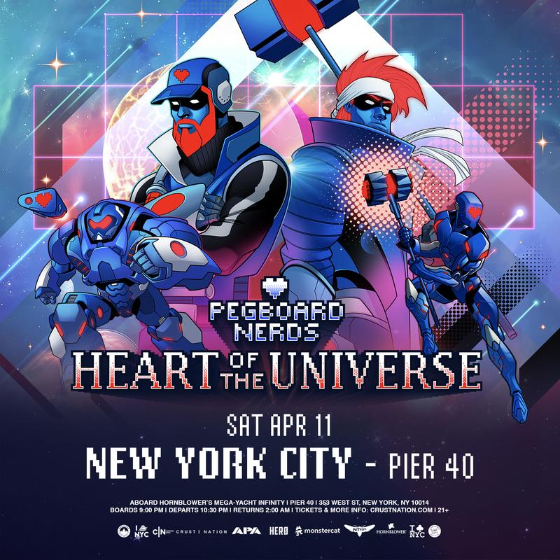 Pegboard Nerds - Heart of the Universe Part II Boat Party NYC
