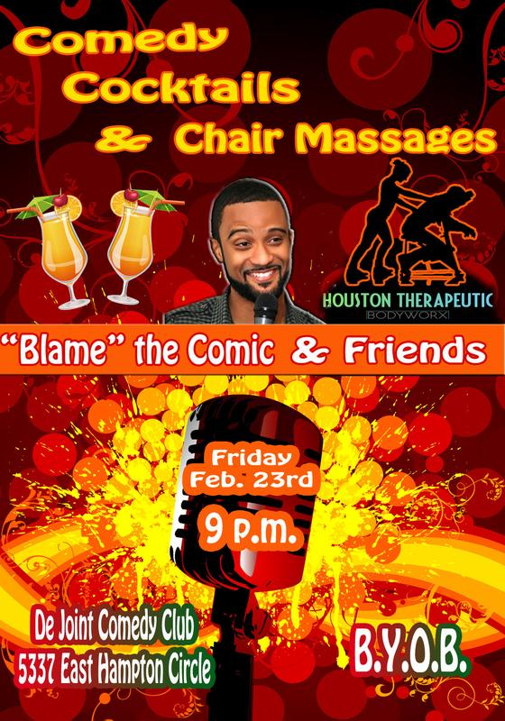 Comedy Cocktails & Chair Massages
