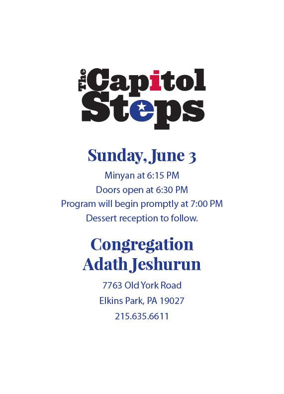 The Capitol Steps at AJ on June 3rd