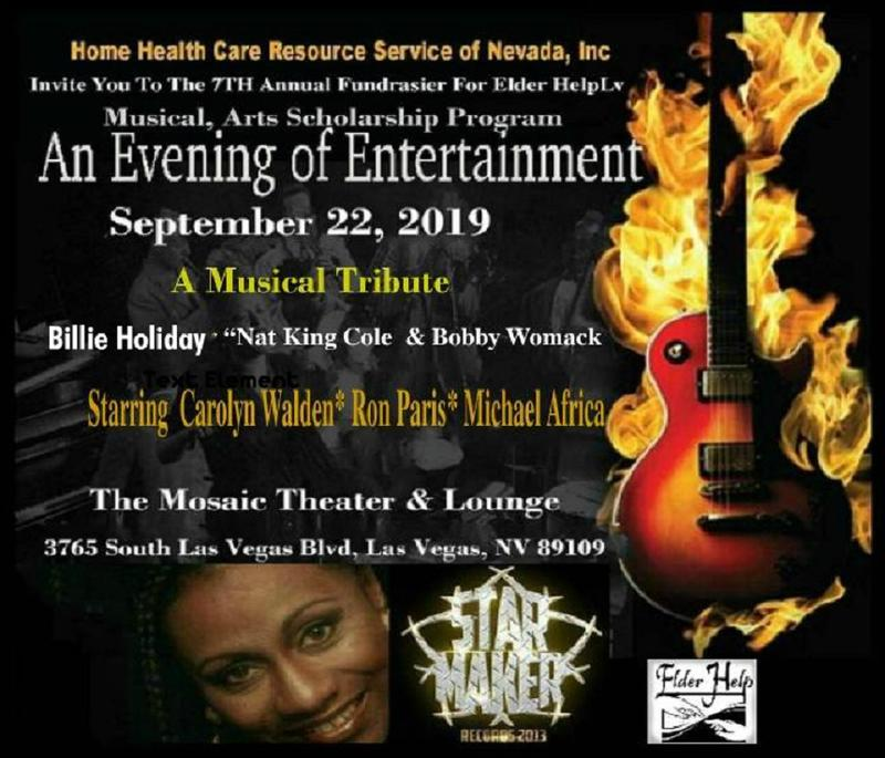 "Musical Tribute to ""Billie Holiday ""Nat King Cole & Bobby Womack"