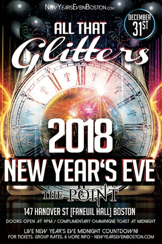 """All That Glitters"" New Year's Eve at The Point [Faneuil Hall]"