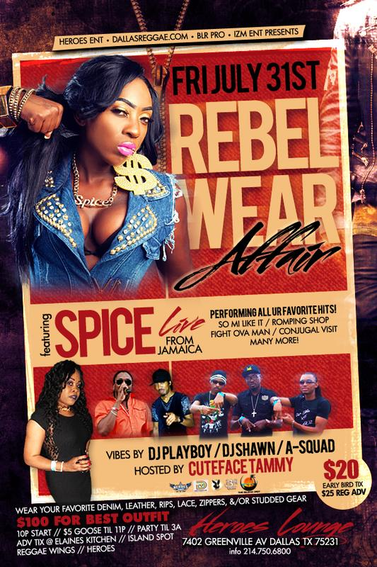 """""""SPICE"""" Live In Concert! """"THE REBEL WEAR AFFAIR"""""""