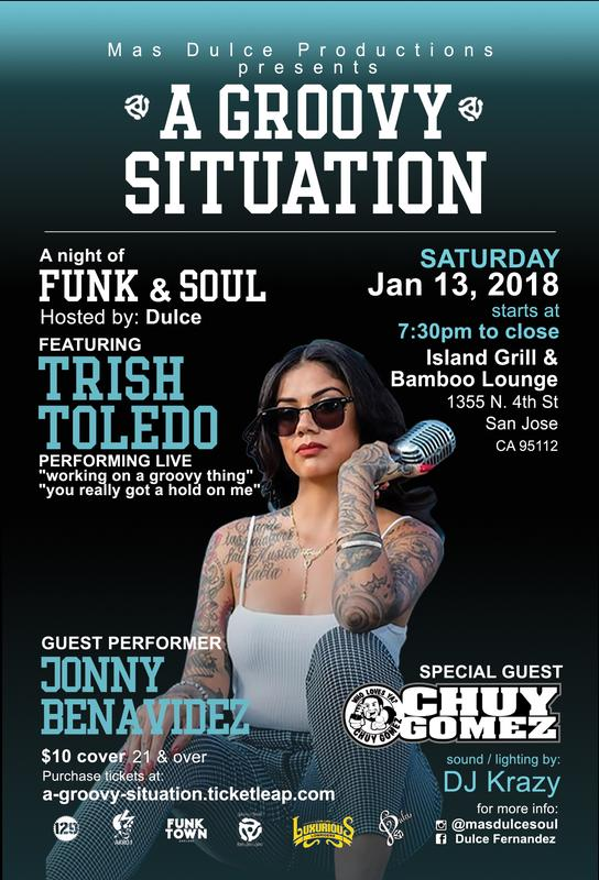 """A Groovy Situation"" A Night of Funk & Soul featuring Trish Toledo"