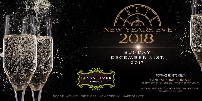 New Years Eve 2018 At Bryant Park Lounge