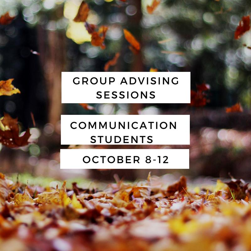 Fall Group Advising_Communication