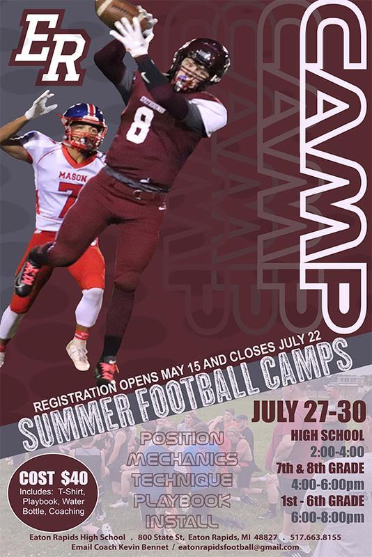 Eaton Rapids 2020 Summer Football Camps