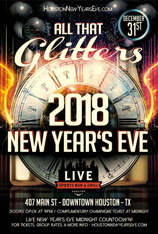 """All That Glitters"" New Year's Eve at Live Sports Bar"
