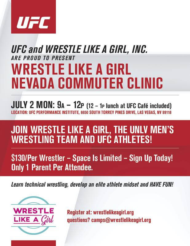UFC and Wrestle Like A Girl presents the Nevada Empowerment Clinic!