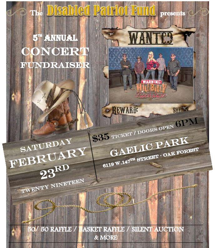 Disabled Patriot Fund's 5th Annual Concert Fundraiser