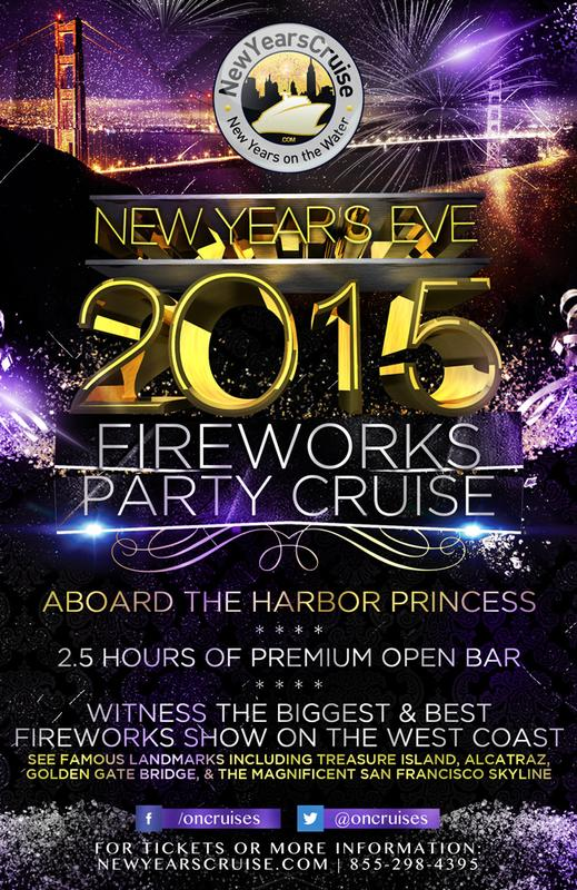 New Year's Eve Fireworks Party Cruise Aboard Harbor Princess-2015