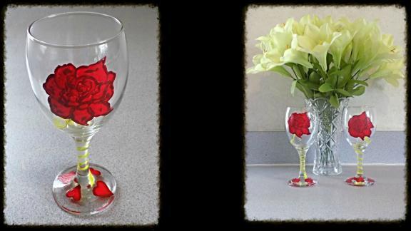 Modern Art: Paint  Wine Glasses