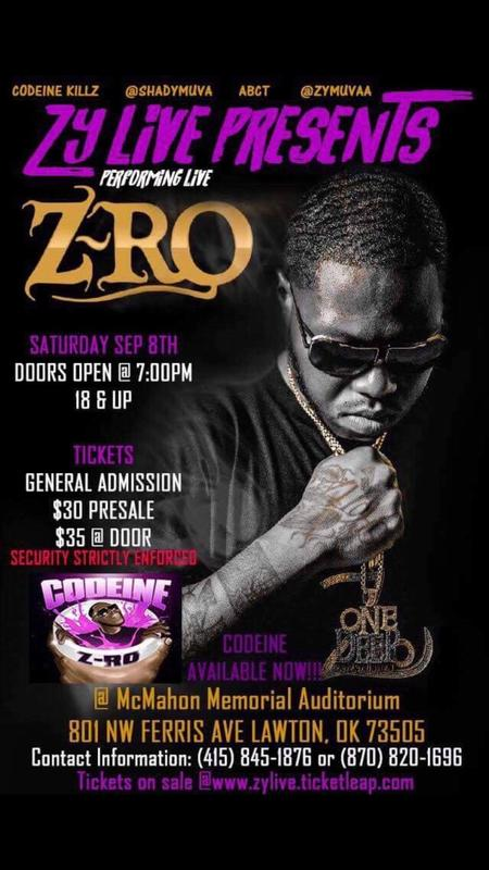 ZyLive presents Z-RO live in concert