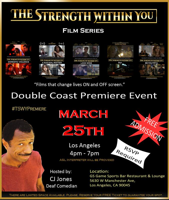 """""""The Strength Within You"""" Premiere Event"""
