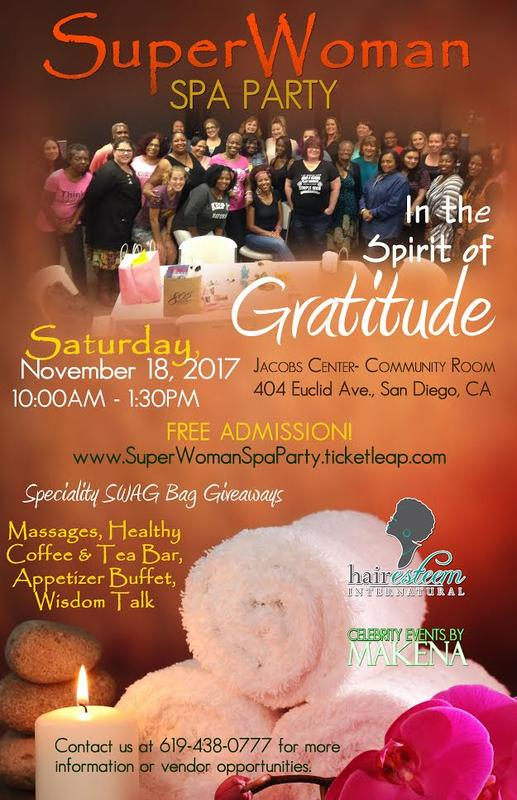 "SuperWoman Spa Party ""In the Spirit of Gratitude"""
