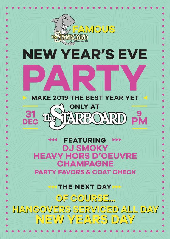 The Starboard's Famous New Year's Eve Celebration