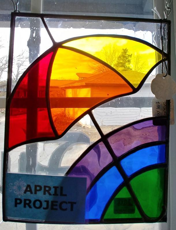 Ozark Folk School Stained Glass Class - April Showers