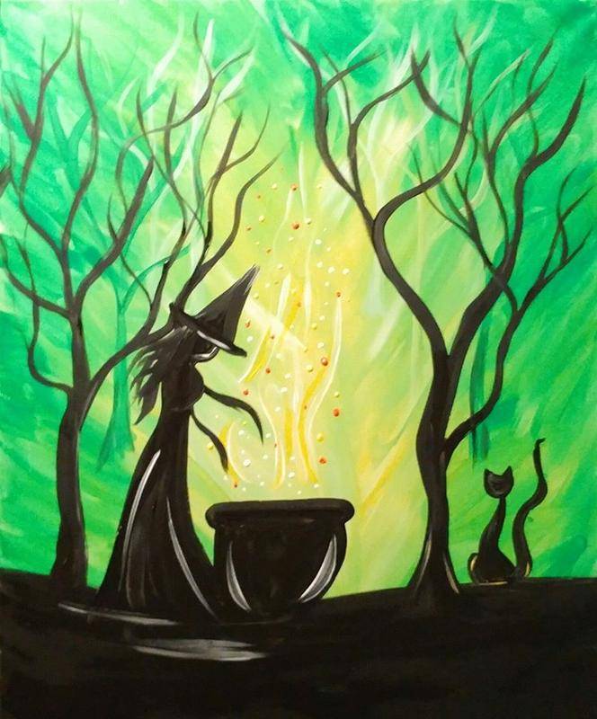 "Witchy"" -Paint Party- 25 Spots Left!"
