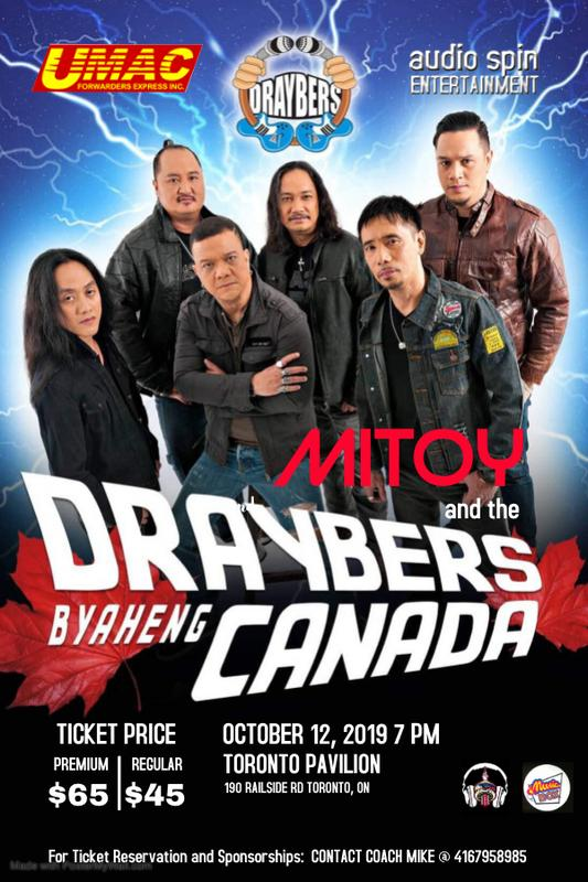 Mitoy and the Draybers Byaheng Canada Concert Tour