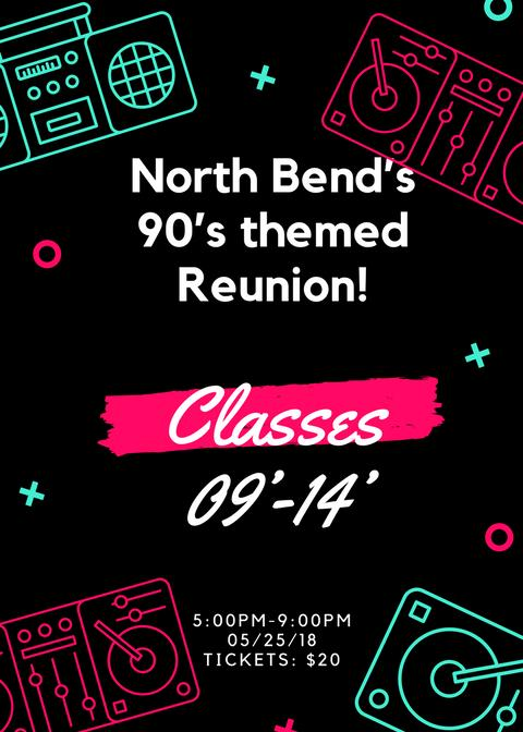 North Bend's 1st  90's Reunion ticket sales end March 1st