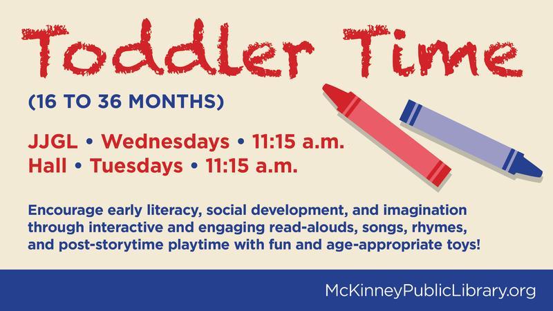 Toddler Time (16 to 36 months) @ John & Judy Gay