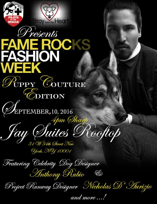 FAME ROCKS FASHION WEEK PUPPY COUTURE EDITION 2016