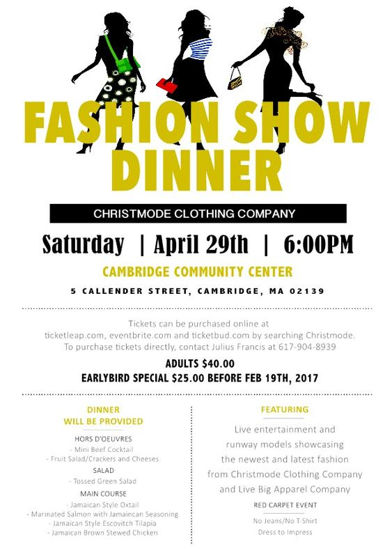 Christmode Clothing Company fashion show and dinner