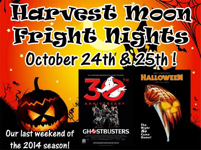 Fright Nights: October 24th & 25th: Ghostbusters/ Halloween