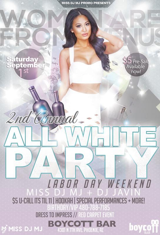 LGBTQ VENUS 2ND ANNUAL LABOR DAY WEEKEND ALL WHITE PARTY