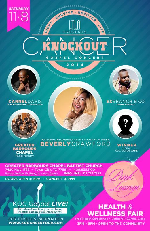2014 Knockout Cancer Awareness Gospel Concert - Texas City