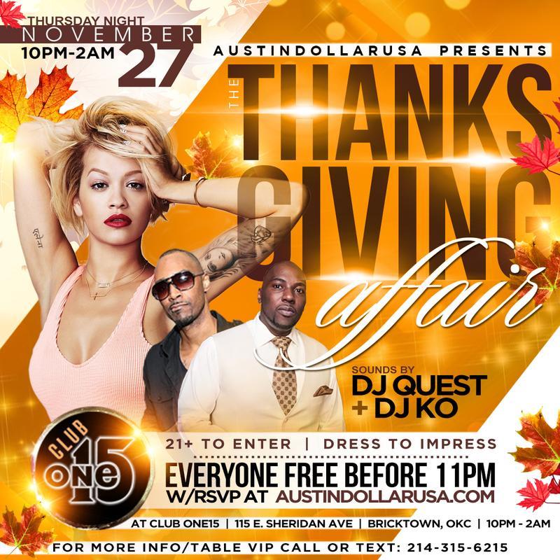 The Thanksgiving Affair | Thanksgiving Night at Club One15