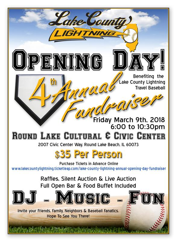 Lake County Lightning Annual Opening Day Fundraiser