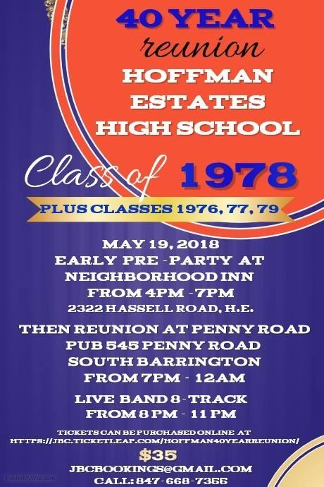 1978 Hoffman Estates High School Casual 40 Year Reunion (we graduated 05/78. (also inviting our friends from classes 76,77,79)