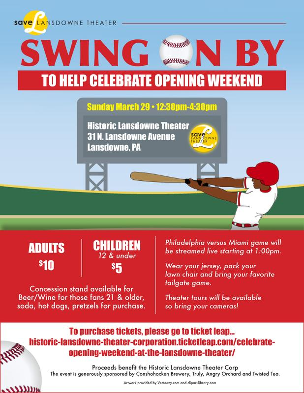 Celebrate Baseball's Opening Weekend at the Lansdowne Theater