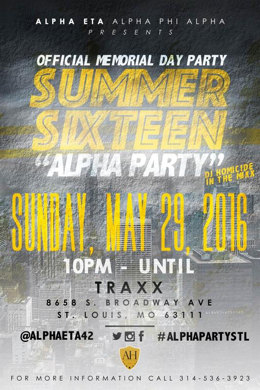 SUMMER SIXTEEN: OFFICIAL MEMORIAL DAY PARTY!