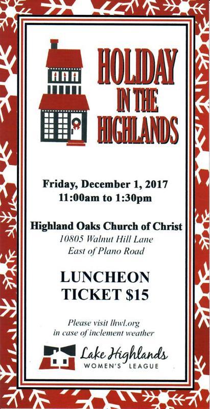 Lake Highlands Women's League Home Tour Luncheon 2017
