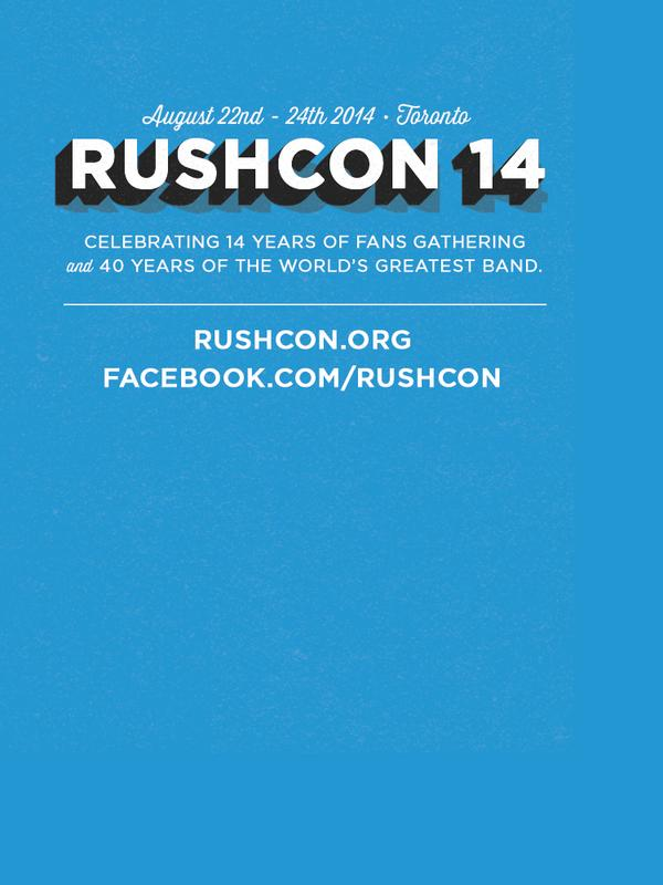 RushCon 14: August 22 - 24, 2014