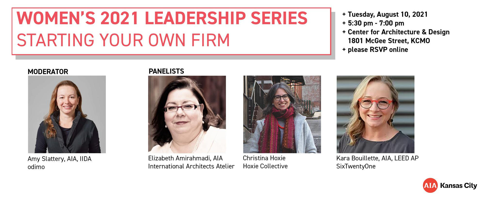 Women in Design: Women's Leadership Series | Starting Your Own Firm