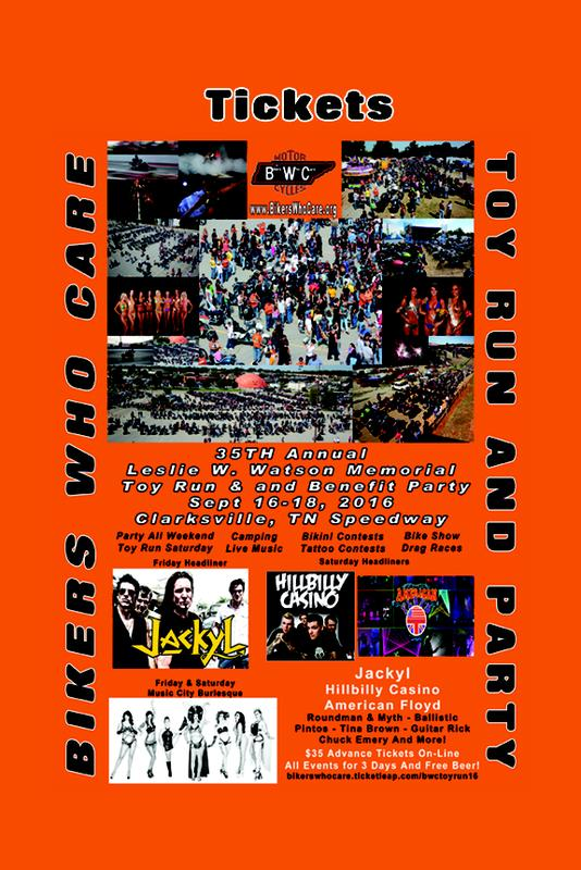Bikers Who Care - Toy Run and Benefit Party 2016
