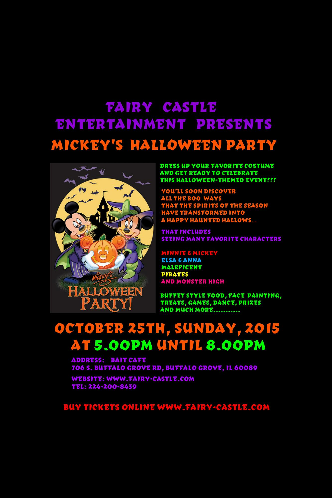 Mickey's Halloween Party Tickets in Buffalo Grove, IL, United States