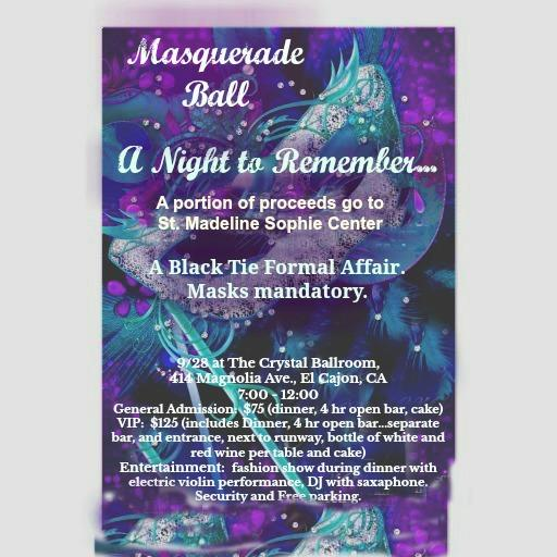 A night to remembersquerade ball tickets in el cajon ca masquerade ball tickets in el cajon ca united states reheart Image collections