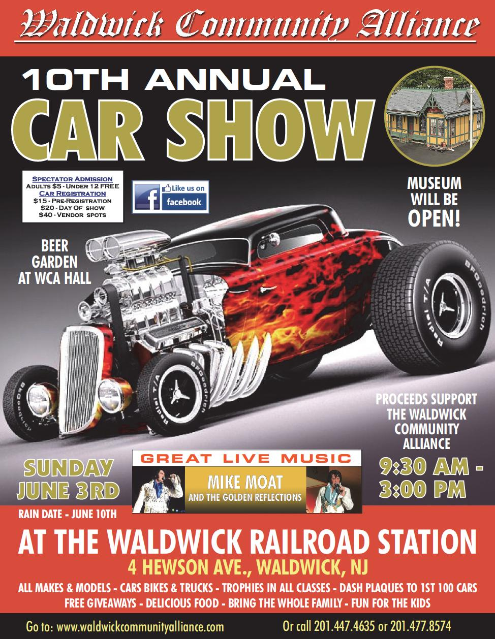 Waldwick Community Alliance Car Show Tickets In Waldwick NJ - Car shows in nj