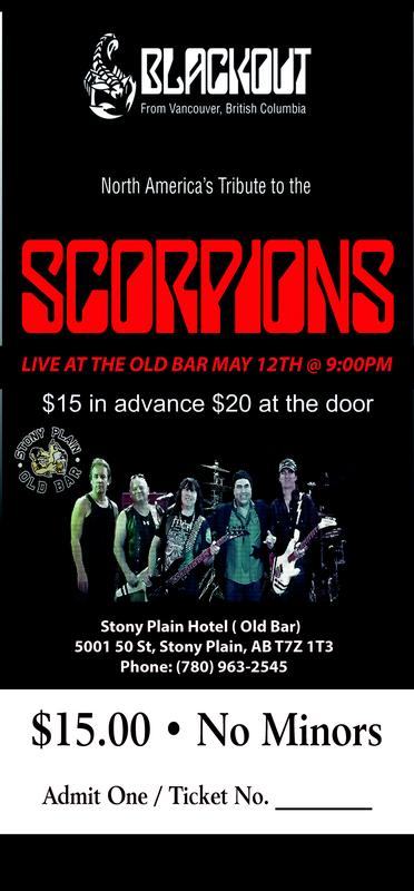 Blackout - Scorpions Tribute Band Live at The Old Bar