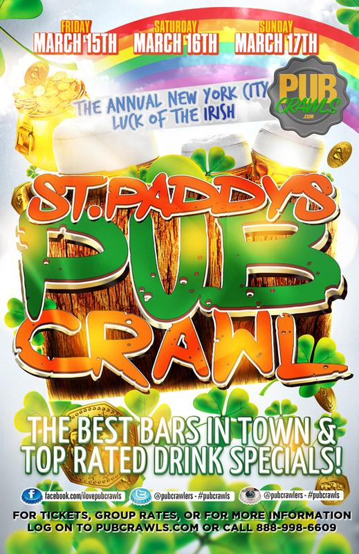 New York City Luck of the Irish St Paddy's Weekend Pub Crawl