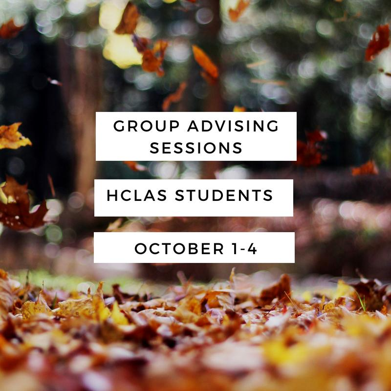 Fall Group Advising_HCLAS