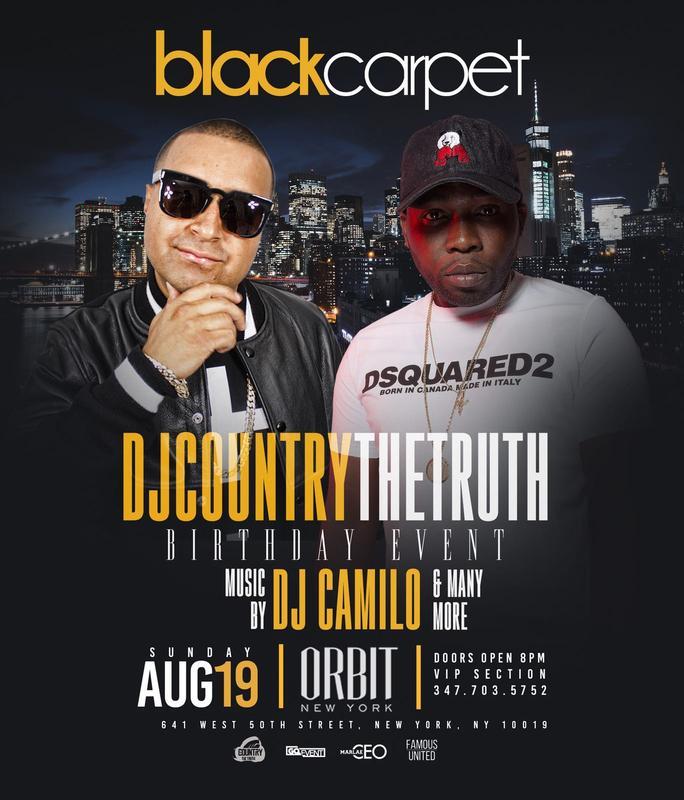 Black Carpet DJ Country The Truth Birthday Bash DJ Camilo Live At Orbit
