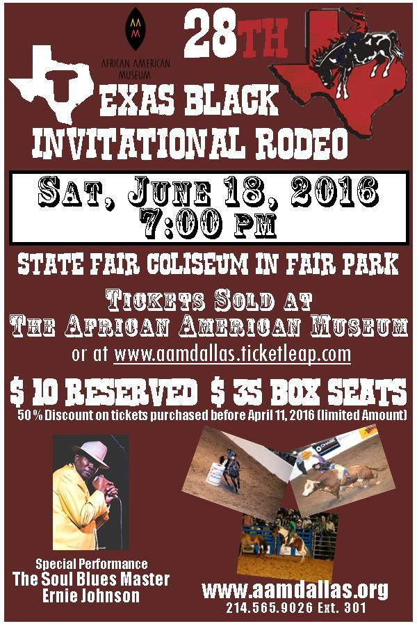 28th Texas Black Invitational Rodeo Tickets In Dallas Tx